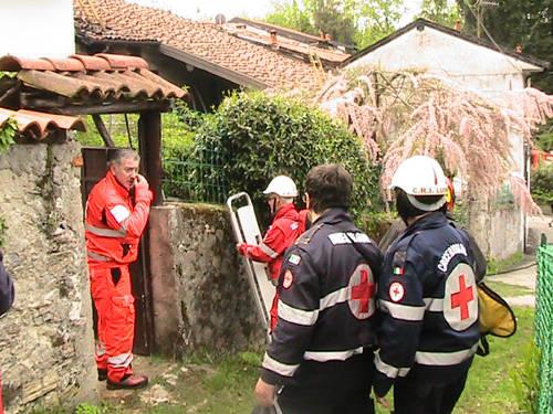 incendio laveno galleria primo maggio