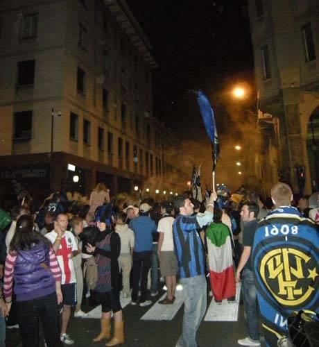 inter festa tifosi varese champion league maggio 2010