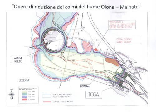 progetto pista provinciale guida sicura diga mulini di malnate gurone