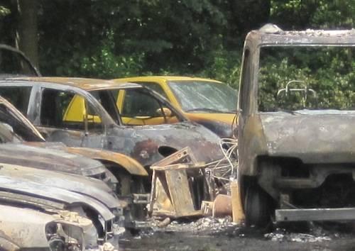 incendio vergiate compravendita auto statale sempione