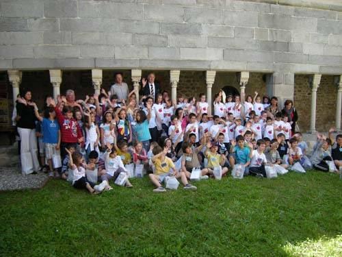 premiazione orto e giardino provincia specchiarelli bambini elementari chiostro voltorre