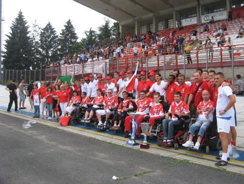 rifinitura finale varese calcio giugno 2010 skorpions wheelchair hockey