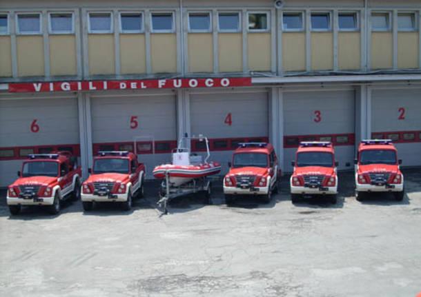 nuovi mezzi dei vigili del fuoco di Varese