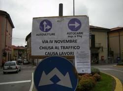 gavirate lavori teleriscaldamento iv novembre chiusura traffico