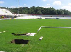 lavori ristrutturazione stadio franco ossola estate 2010