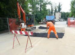 lavori stradali via padre lega gallarate