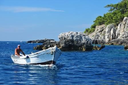 Pescatore alle isole tremiti