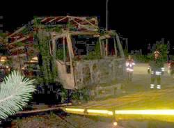 camion bruciato superstrada 336 malpensa 24-11-2010