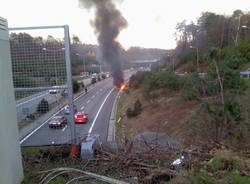 incendio strada statale 336 camion