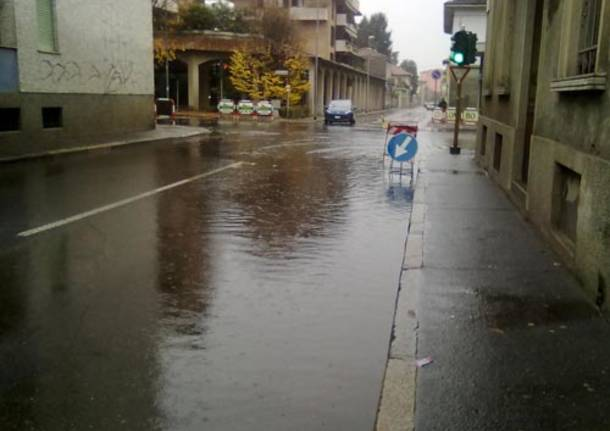 pioggia busto viale pirandello via milazzo 21 novembre 2010
