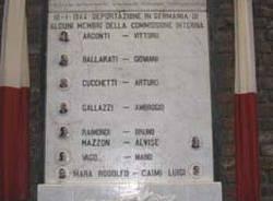 comerio ercole lapide commemorazione busto arsizio deportati resistenza