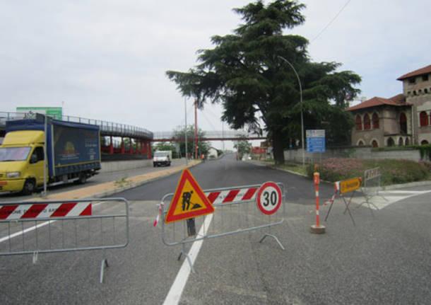 cinque ponti busto arsizio traffico asfaltatura