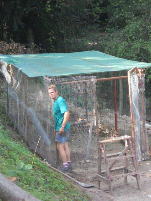 Costruendo il pollaio |