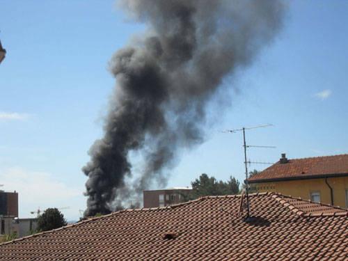 incendio centrale termica varese foto Valeria Tonelli