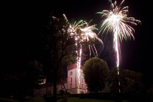 palio dei castelli 2011 chiusura fuochi d'artificio