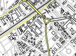 carta mappa tangenziale ovest gallarate sp28 via aosta via della ronna