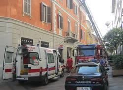 incendio mansarda via milano busto arsizio 3 ottobre 2011