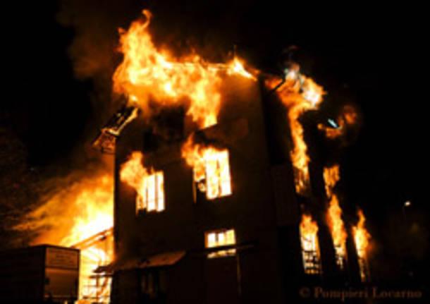 pompieri locarno incendio