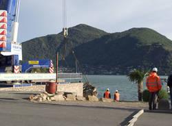 porto ceresio imbarcazione recupero ottobre 2011