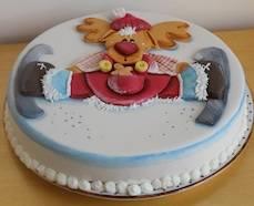 torta natale alce decorata apertura