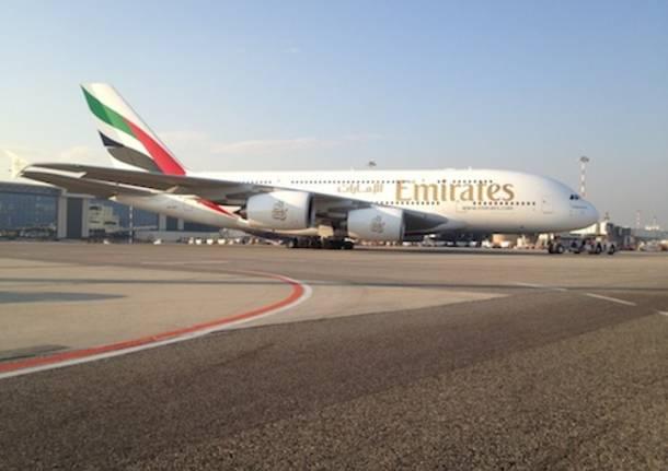 Airbus A380 Emirates malpensa (inserita in galleria)