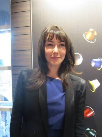 Anita Caprioli alla Nespresso (inserita in galleria)