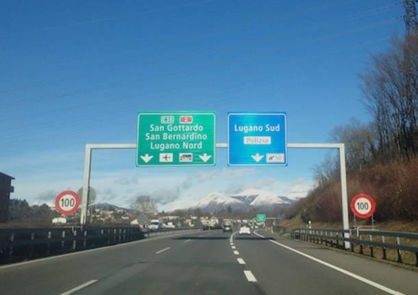 Autostrada A2 canton ticino svincolo lugano sud