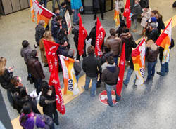 cub manifestazione sindacati malpensa