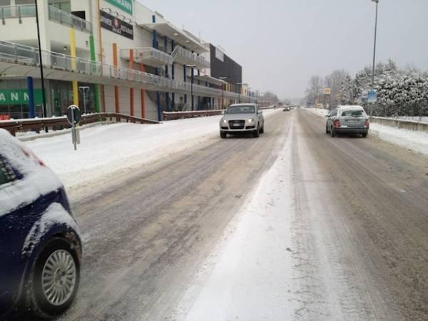 Le strade il 2 febbraio (inserita in galleria)