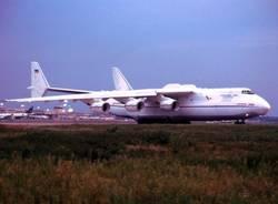 L'Antonov arriva a Malpensa (inserita in galleria)
