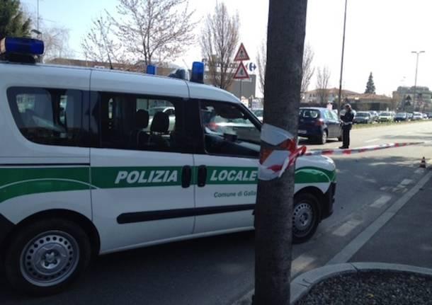 polizia locale gallarate apertura via fermi incidente