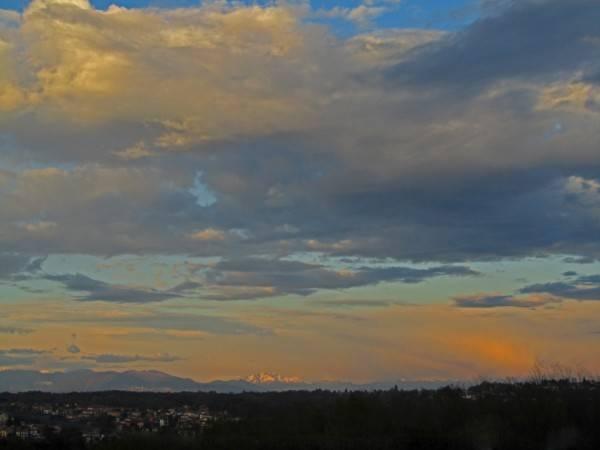 il Resegone al tramonto