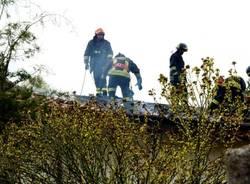 Incendio a Sesona di Vergiate (inserita in galleria)