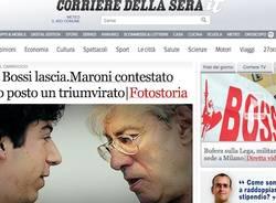 Le dimissioni di Bossi (inserita in galleria)