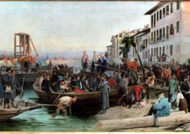 Eleuterio Pagliano, Lo sbarco dei Cacciatori delle Alpi a Sesto Calende del 23 maggio 1859