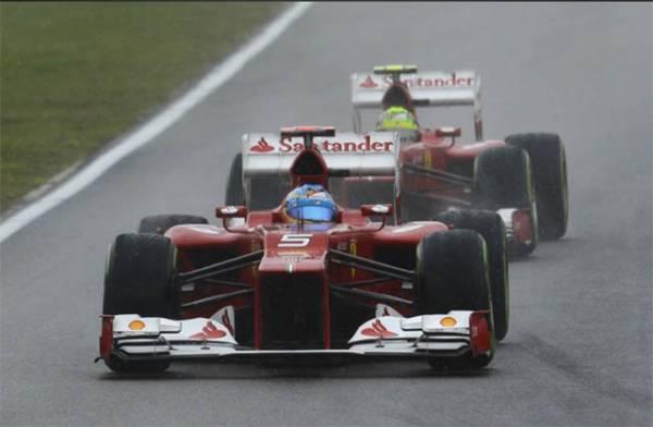 Ferrari da brivido vince il Gran Premio di Germania (inserita in galleria)