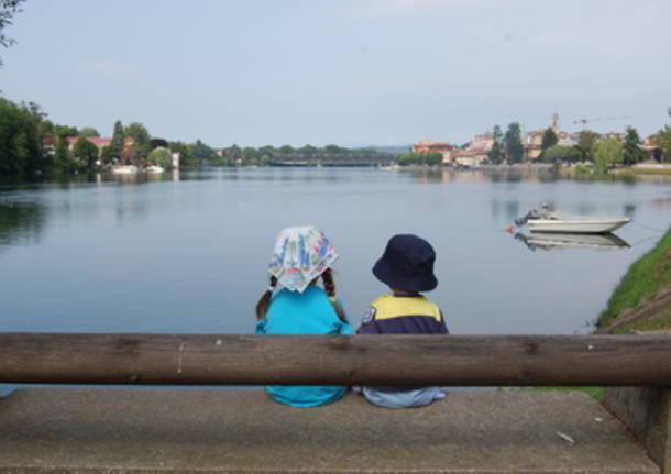 una tranquilla mattina di luglio in riva al fiume ticino