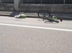 Ciclista travolto a Gallarate (inserita in galleria)