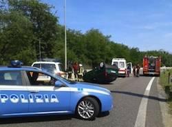 incidente stradale superstrada 336 malpensa cardano al campo polizia