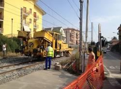 Lavori sulla ferrovia a Gazzada (inserita in galleria)