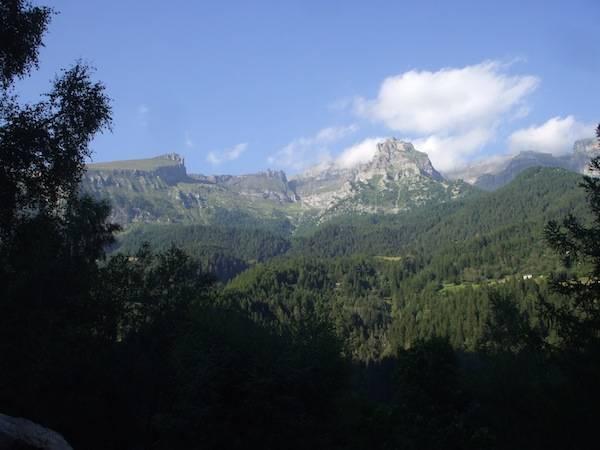 Tramonto sulle montagne della val Divedro