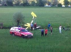 Ultraleggero caduto a Brissago Valtravaglia (inserita in galleria)