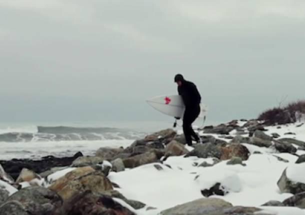 Surf sotto la neve
