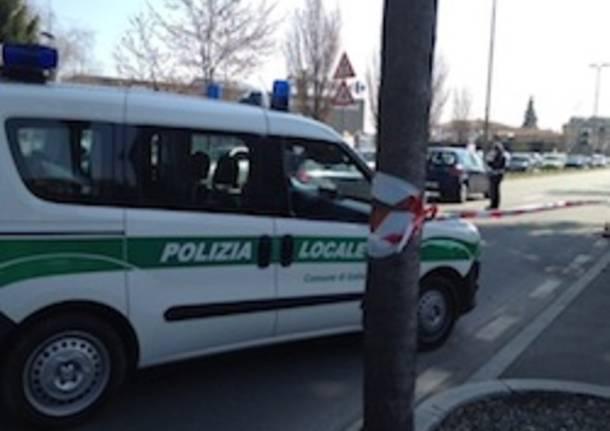 via fermi gallarate polizia locale incidente apertura