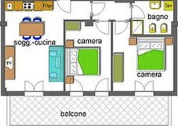 appartamento trilocale casa apertura