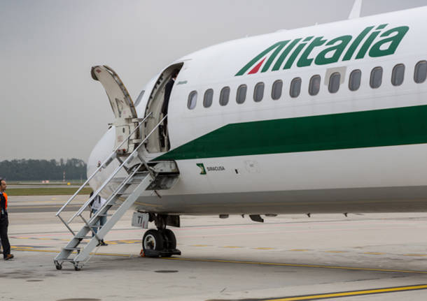 L'ultimo volo dell'MD82 di Alitalia (inserita in galleria)