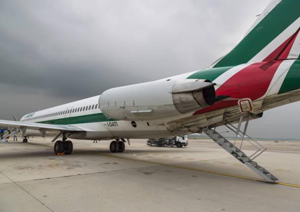 L'ultimo volo dell'MD82 di Alitalia (inserita in galleria)