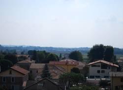 Un aereo Aermacchi sui cieli di Varese (inserita in galleria)