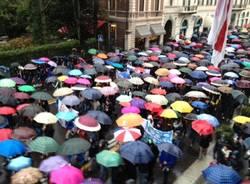 La protesta degli studenti varesini (inserita in galleria)