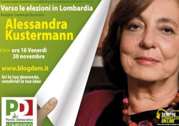 Primarie regionali: Alessandra Kustermann in diretta